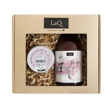 LaQ zestaw kosmetyków dla kobiet – żel pod prysznic (500 ml) + mus do mycia twarzy (100 ml)