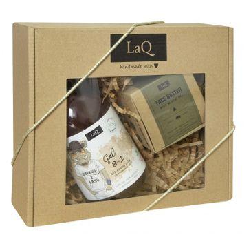 LaQ zestaw kosmetyków dla mężczyzn żel pod prysznic Dzikus z Lasu (500 ml) + masło do pielęgnacji twarzy (50 ml)