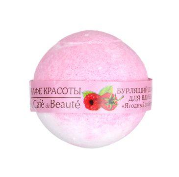 Le Cafe de Beaute musująca kula do kąpieli sorbet malinowy 120 g