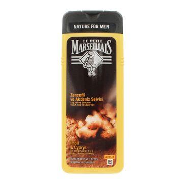 Le Petit Marseillais – żel pod prysznic 3w1 dla mężczyzn Imbir & Cyprys (400 ml)