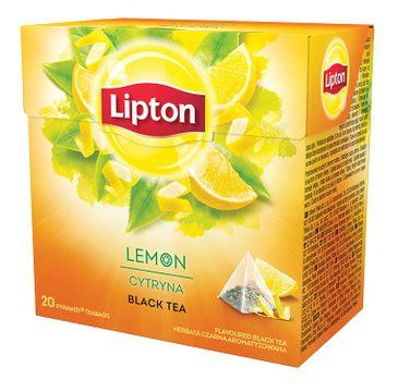 Lipton Black Tea herbata czarna aromatyzowana Cytryna 20 piramidek 34g