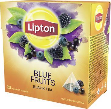 Lipton Black Tea herbata czarna aromatyzowana Owoce Jagodowe 20 piramidek 36g