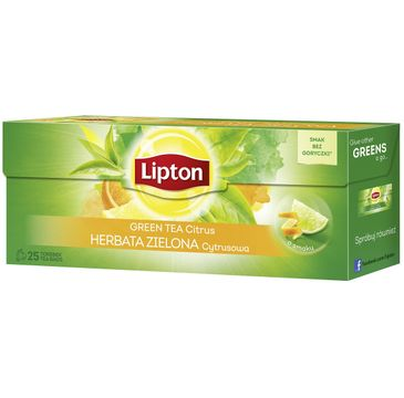 Lipton Green Tea herbata zielona Cytryna 25 torebek 32,5g