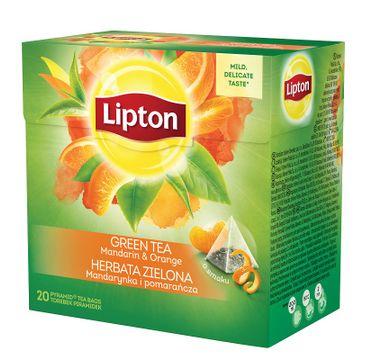 Lipton Green Tea herbata zielona Mandarynka i Pomarańcza 20 piramidek 36g