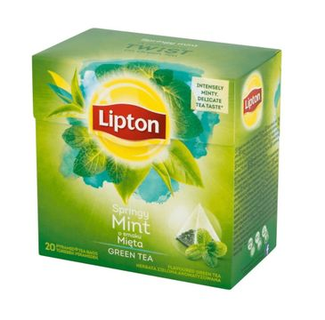 Lipton Green Tea zielona herbata Mięta 20 torebek 32g
