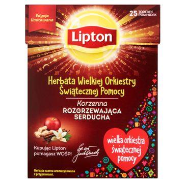 Lipton Herbata Wielkiej Orkiestry Świątecznej Pomocy herbata czarna korzenna 25 torebek 37.5g