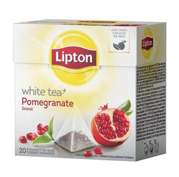 Lipton White Tea herbata biała Granat 20 piramidek 30g