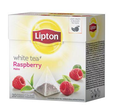 Lipton White Tea herbata biała Malina 20 piramidek 30g