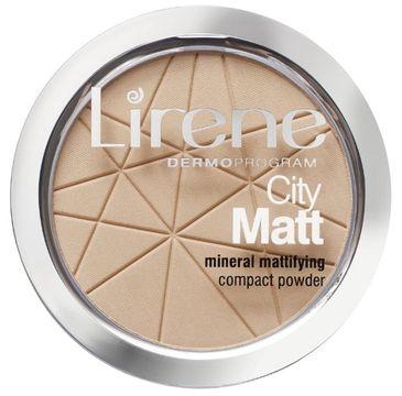 Lirene City Matt Mineral Mattifying Compact Powder mineralny puder matujący 02 Naturalny 9g