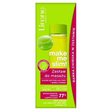 Lirene Make Me Slim! zestaw do masażu olejek antycellulitowy 100ml + bańka chińska (1 szt.)