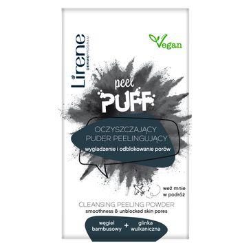 Lirene Peel Puff oczyszczający puder peelingujący węgiel bambusowy + glinka wulkaniczna (7 g)