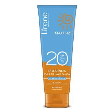 Lirene Sun Maxi Size rodzinna emulsja nawilżająca utrwalająca opaleniznę SPF20 (250 ml)