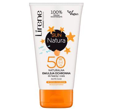 Lirene Sun Natura SPF50 naturalna emulsja ochronna do twarzy i ciała (120 ml)