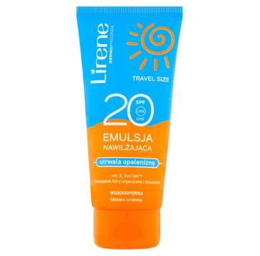 Lirene Sun Travel Size emulsja nawilżająca utrwalająca opaleniznę SPF20 (90 ml)