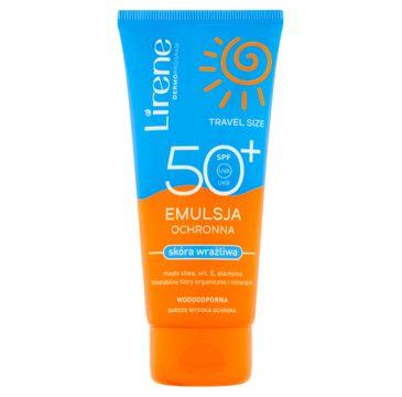 Lirene Sun Travel Size emulsja ochronna skóra wrażliwa SPF 50 (90 ml)