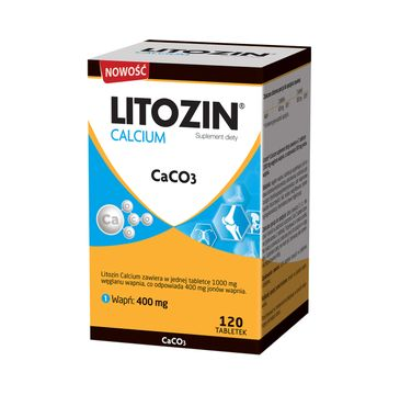 Litozin Calcium CaCO3 suplement diety (120 tabletek)