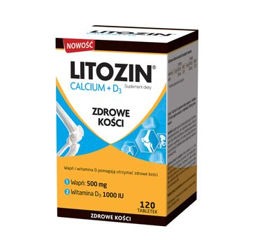 Litozin Calcium + D3 zdrowe kości suplement diety (120 tabletek)