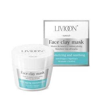 Livioon Natural Face Mask - maska do twarzy z zieloną glinką 50 ml