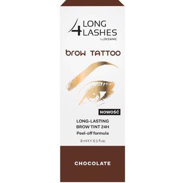Long 4 Lashes Brow Tattoo preparat żelowy do brwi 24h Chocolate 8 ml