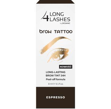 Long 4 Lashes Brow Tattoo preparat żelowy do brwi 24h Espresso 8 ml