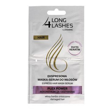 Long 4 Lashes ekspresowa maska serum do włosów Plex Power 6 ml x 2