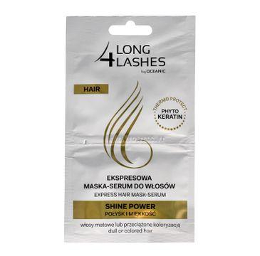 Long 4 Lashes ekspresowa maska serum do włosów Shine Power 6 ml x 2