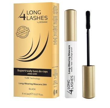 Long 4 Lashes Long Wearing Mascara 24h super trwały tusz do rzęs Black 8ml