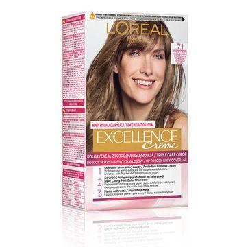 L'oreal – Paris Excellence Creme farba do włosów 7.1 Blond Popielaty (1 op.)