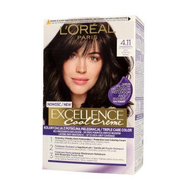 L'Oreal Excellence Cool Creme – krem koloryzujący 4.11 Ultra Popielaty Brąz (1 op.)