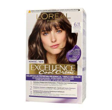 L'Oreal Excellence Cool Creme – krem koloryzujący 6.11 Ultra Popielaty Ciemny Blond (1 op.)