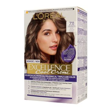 L'Oreal Excellence Cool Creme – krem koloryzujący 7.11 Ultra Popielaty Blond (1 op.)