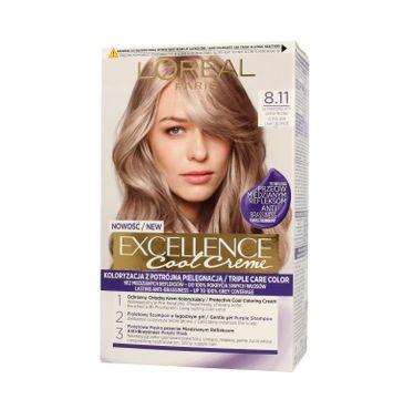 L'Oreal Excellence Cool Creme – krem koloryzujący 8.11 Ultra Popielaty Jasny Blond (1 op.)