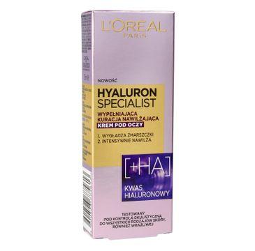 L'Oreal Hyaluron Specialist krem pod oczy nawilżająco-wygładzający (15 ml)