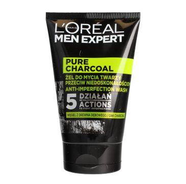 L'Oreal Men Expert Pure Charcoal żel do mycia twarzy przeciw niedoskonałościom 100 ml