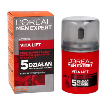 L'Oreal Men Expert Vita Lift 5 krem do twarzy dla mężczyzn przeciw starzeniu 40+ 50 ml