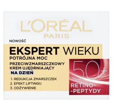 L'Oreal Paris Ekspert Wieku 50+ – przeciwzmarszczkowy krem ujędrniający na dzień (50 ml)