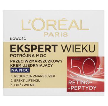 L'Oreal Paris Ekspert Wieku 50+ – przeciwzmarszczkowy krem ujędrniający na noc (50 ml)