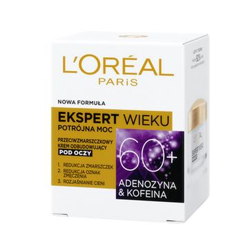 L'Oreal Paris Ekspert Wieku 60+ przeciwzmarszczkowy krem odbudowujący pod oczy (15 ml)