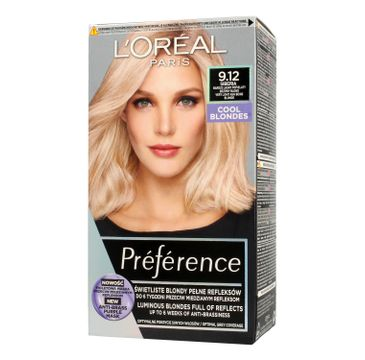 L'Oreal Paris Preference – farba do włosów nr 9.12 Siberia (1 op.)
