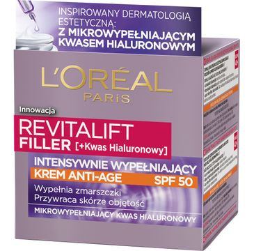 L'Oreal Revitalift Filler Krem na dzień SpF50 Anti Age (50 ml)