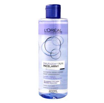 L'Oreal Skin Expert płyn micelarny dwufazowy cera każdego typu (400 ml)