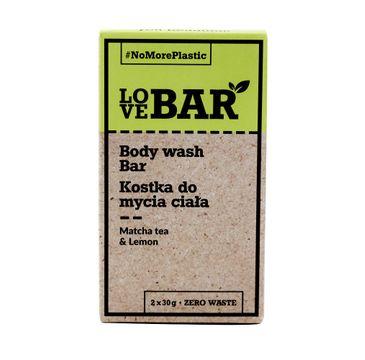 Love Bar Body Wash Bar kostka do mycia ciała Matcha & Limonka (2x30 g)