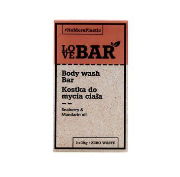 Love Bar Body Wash Bar kostka do mycia ciała Rokitnik & Mandarynkowy Olej 2x30g
