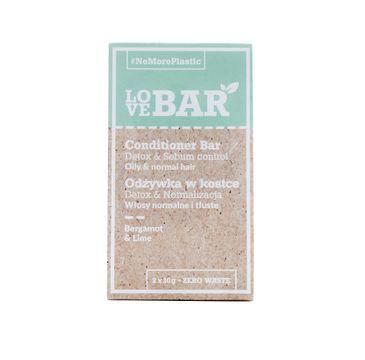 Love Bar Conditioner Bar od偶ywka w kostce do w艂os贸w normalnych i t艂ustych Bergamotka & Limonka (2x30 g)