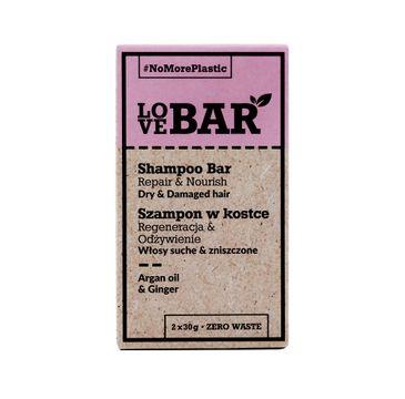 Love Bar Shampoo Bar szampon w kostce do włosów suchych i zniszczonych Olej Arganowy & Imbir (2x30 g)