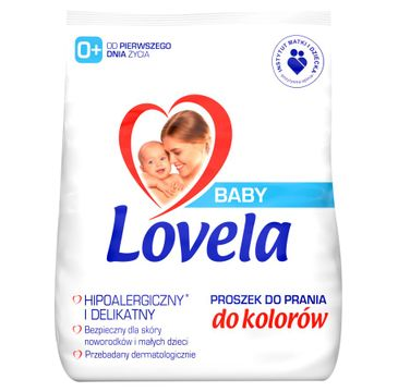 Lovela – Baby hipoalergiczny proszek do prania ubranek niemowlęcych i dziecięcych do kolorów (1.3 kg)