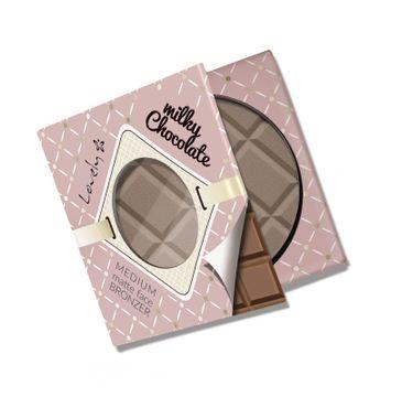 Lovely Milky Chocolate Medium Matte Face Bronzer czekoladowy matowy bronzer do twarzy i ciała 9g