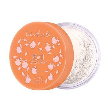 Lovely Peach Loose Powder transparentny puder do twarzy o delikatnym brzoskwiniowym kolorze i zapachu (9 g)