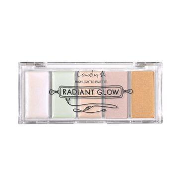 Lovely Radiant Glow Highlighter Palette paleta rozświetlaczy do twarzy i powiek 7g