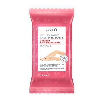 Luba Oczyszczające chusteczki do rąk z płynem antybakteryjnym dla kobiet (15 szt.)